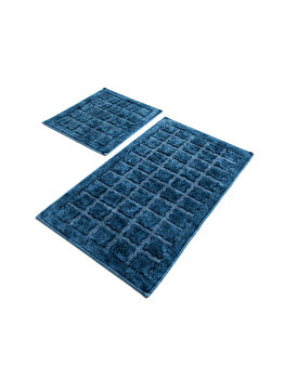 Set covoare de baie, Chilai Home, 2 piese, 60 x 100 cm, 359CHL1620, bumbac, Albastru de la Chilai Home