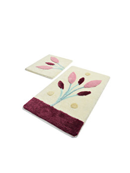 Set covoare de baie, Chilai Home, 2 piese, 60 x 100 cm, 359CHL2305, acrilic, Multicolor de la Chilai Home