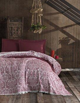 Set cuvertura, EnLora Home, bumbac, 240 x 260 cm, 162ELR9479, Rosu de la EnLora Home