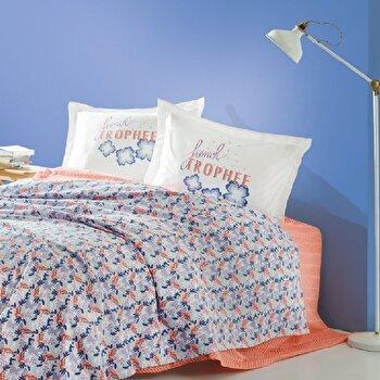 Set lenjerie de pat dubla, Marie Claire, bumbac, 240 x 260 cm, 153MCL5240, Multicolor de la Marie Claire