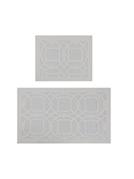Set 2 x covorase baie, Beverly Hills Polo Club, 60 x 100 cm, 355BHP2012, bumbac, Alb