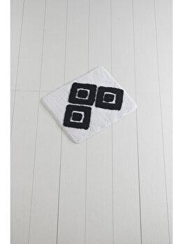 Covor de baie, Chilai Home, 50 x 60 cm, 359CHL1392, acrilic, Alb/Negru de la Chilai Home