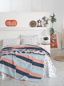 Set lenjerie de pat dubla, Marie Claire, bumbac, 240 x 260 cm, 153MCL2023, Multicolor de la Marie Claire