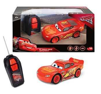 Masinuta cu telecomanda Cars 3, Fulger McQueen, Single Drive de la Dickie