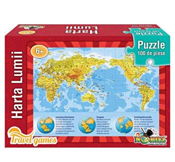 Puzzle educativ – Harta lumii, 100 piese de la Noriel