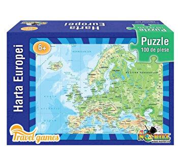 Puzzle educativ - Harta Europei, 100 piese