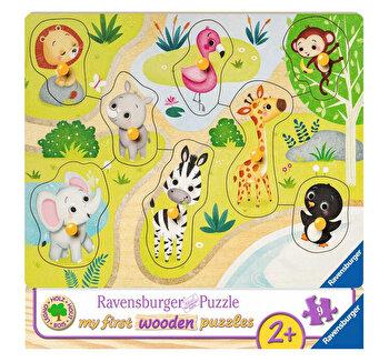 Primul meu puzzle din lemn Zoo, 8 piese