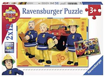 Puzzle Pompierul Sam, 2×12 piese de la Ravensburger