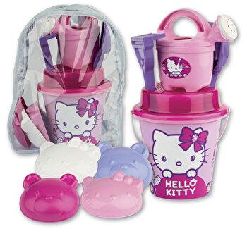 Set accesorii de nisip in rucsac mare Hello Kitty Make-Up de la Androni Giocattoli