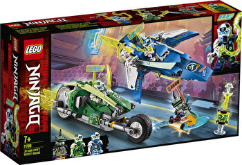 LEGO NINJAGO, Masinile rapide de curse ale lui Jay si Lloyd 71709 de la LEGO