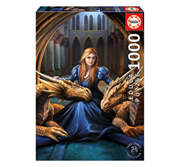 Puzzle Fierce Loyalty, Anne Stokes, 1000 piese de la Educa