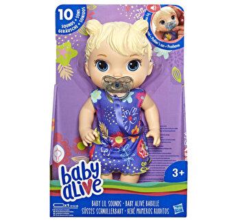 Baby Alive - Papusa interactiva Lil Sounds, blonda