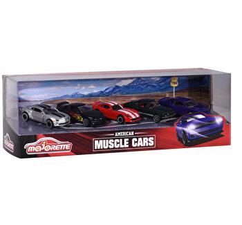 Set cadou 5 masinute American Muscle Cars, Majorette de la Majorette