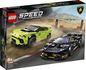 LEGO Speed Champions, Lamborghini Urus ST-X & Lamborghini Huracán Super Trofeo EVO 76899 de la LEGO