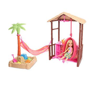 Set Barbie Travel cu papusa Chelsea – Tiki Hut Playset de la Barbie