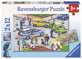 Puzzle Politie, 2×12 piese de la Ravensburger