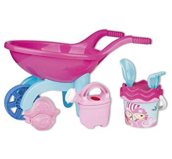 Roaba din plastic pentru copii Androni Hello Kitty cu galetusa, stropitoare si accesorii