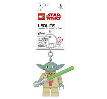Breloc cu laterna -Yoda with Lightsaber LEGO Star Wars de la LEGO