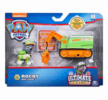 Patrula catelusilor, vehicule cu figurine ultimate rescue rocky de la Patrula Catelusilor