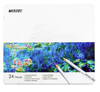Creioane 24 culori – caseta metal Marco Raffine 7100-24TN de la Marco