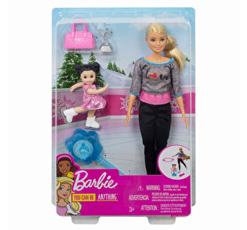 Papusa Barbie, cariera in sport antrenoare de patinaj