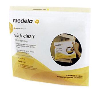 Pungi de sterilizare la microunde QuickClean 5 buc