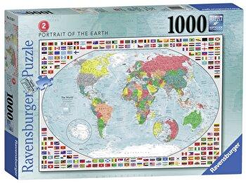 Puzzle Harta politica a lumii 2, 1000 piese de la Ravensburger