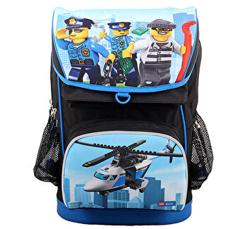 LEGO City, Ghiozdan scoala Maxi cu sac sport Police Chopper de la LEGO