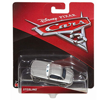 Cars, 3 personaje Die Cast Sterling de la Cars