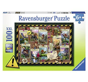 Puzzle Colectia dinozaurilor, 100 piese de la Ravensburger
