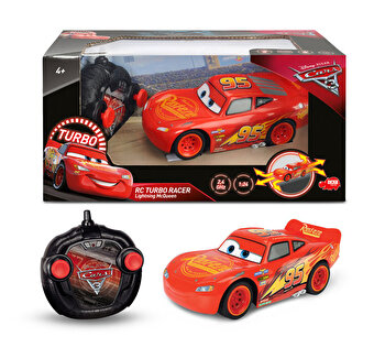 Masinuta cu telecomanda Cars 3, Fulger McQueen, Turbo Racer de la Dickie