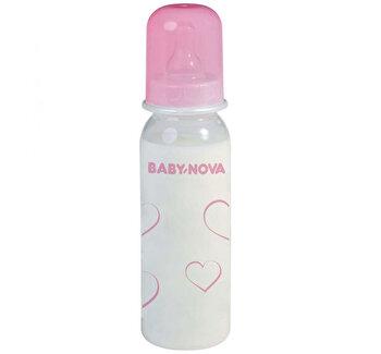 """Biberon polipropilena """"Rose"""" fara BPA, 250 ml de la Babynova"""