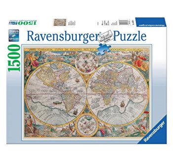 Puzzle Harta istorica, 1500 piese de la Ravensburger