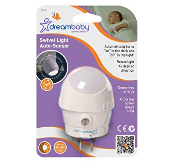 Lampa rotativa cu led si senzor Dreambaby