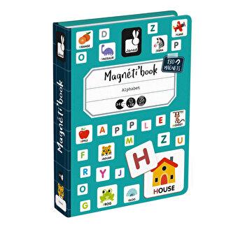 Carte magnetica – Invata alfabetul, 130 piese de la Janod