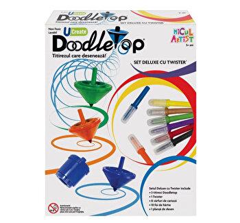 Micul Artist – Set titirez varf carioca Deluxe Doodletop cu Twister de la Doodletops