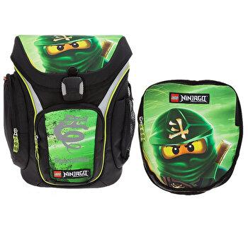 Ghiozdan scoala Explorer + sac sport, LEGO Core Line – design verde NinjaGo Lloyd de la LEGO