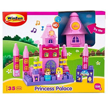 Set constructie piese mari roz Winfun Castel Printese 35 piese