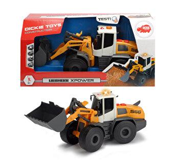 Excavator de jucarie cu lumini si sunete Liebherr L566 Xpower, Dickie Toys de la Dickie