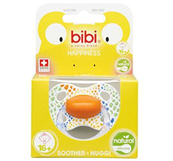 Suzeta din silicon rotunda cu inel, Wild Baby Bibi, + 16 luni de la BIBI