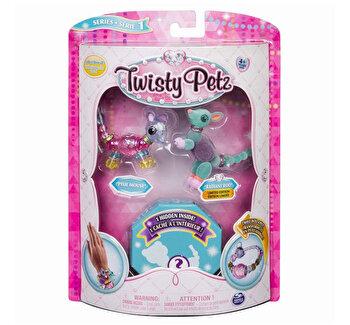 Twisty Petz set 3 bratari animalute soricel cangur caprioara de la Twisty Pets