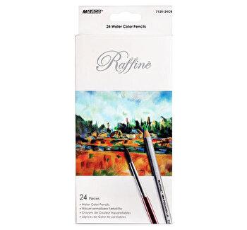 Creioane 24 culori, acuarela cu pensula Marco Raffine 7120-24CB de la Marco