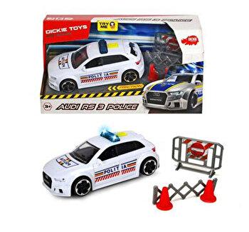 Masina de politie Audi RS3 cu sunete si lumini Dickie Toys. 1:32 de la Dickie