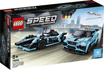 LEGO Speed Champions, Formula E Panasonic Jaguar Racing GEN2 car & Jaguar I-PACE eTROPHY 76898 de la LEGO