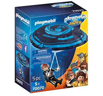 Playmobil Movie, Rex Dasher cu parasuta de la Playmobil