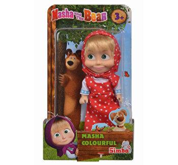 Papusica Masha, in rochita rosie