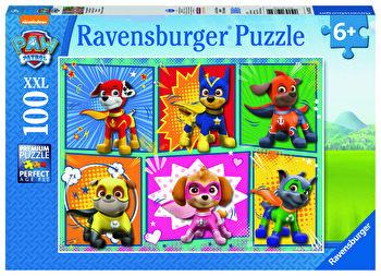 Puzzle Paw Patrol, 100 piese de la Ravensburger