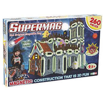 Supermag 3D - Jucarie cu magnet Castel, 260 piese