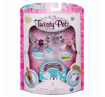 Twisty Petz set 3 bratari animalute unicorn ghepard broscuta de la Twisty Pets