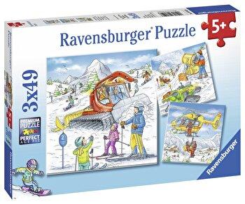 Puzzle Partie de schi, 3x49 piese